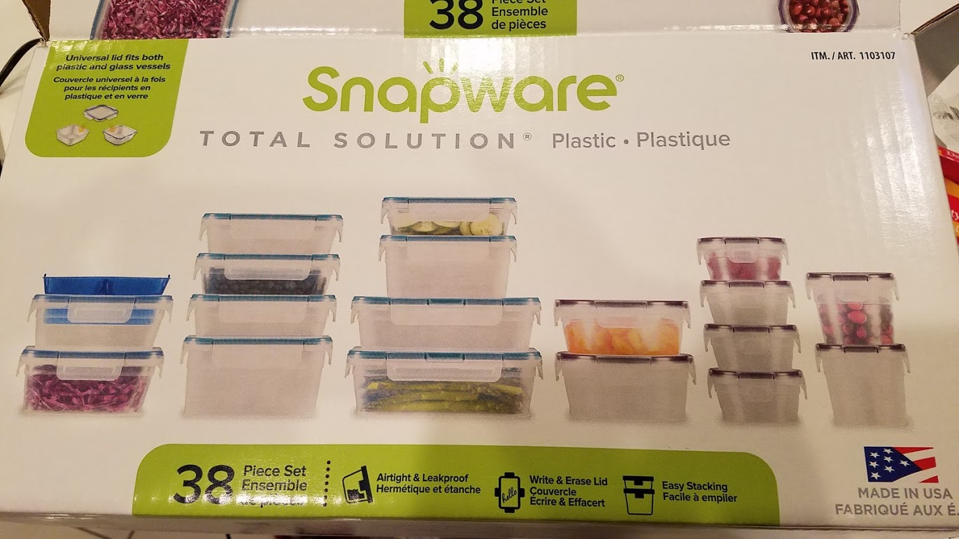 Snapware containers